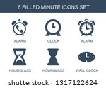 6 minute icons. trendy minute... | Shutterstock .eps vector #1317122624