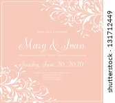 wedding invitation | Shutterstock .eps vector #131712449