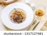 duck confit leg with white bean ... | Shutterstock . vector #1317127481