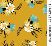 seamless pattern with small...   Shutterstock .eps vector #1317129641