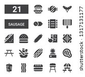 sausage icon set. collection of ... | Shutterstock .eps vector #1317131177