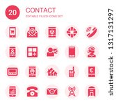 contact icon set. collection of ... | Shutterstock .eps vector #1317131297