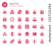 muffin icon set. collection of... | Shutterstock .eps vector #1317131354