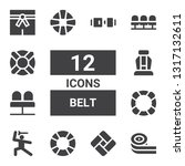 belt icon set. collection of 12 ... | Shutterstock .eps vector #1317132611
