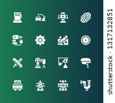industrial icon set. collection ... | Shutterstock .eps vector #1317132851