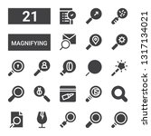 magnifying icon set. collection ... | Shutterstock .eps vector #1317134021