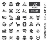 helmet icon set. collection of... | Shutterstock .eps vector #1317134114