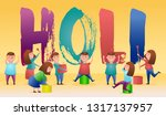 illustration of colorful happy... | Shutterstock .eps vector #1317137957