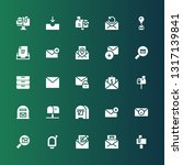 receive icon set. collection of ... | Shutterstock .eps vector #1317139841