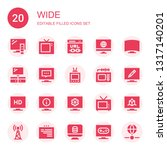 wide icon set. collection of 20 ... | Shutterstock .eps vector #1317140201