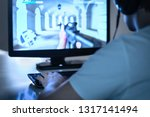 e sports and gaming concept.... | Shutterstock . vector #1317141494
