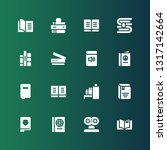 reader icon set. collection of... | Shutterstock .eps vector #1317142664