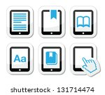 e book reader  e reader vector... | Shutterstock .eps vector #131714474