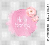 banner blob with flowers... | Shutterstock .eps vector #1317145154