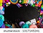 craft supplies for creative... | Shutterstock . vector #1317145241