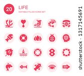 life icon set. collection of 20 ... | Shutterstock .eps vector #1317145691