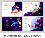 landing page templates set.... | Shutterstock .eps vector #1317145907