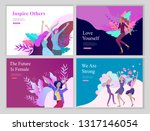 web page design template for... | Shutterstock .eps vector #1317146054