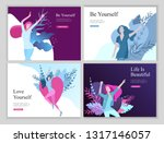 web page design template for... | Shutterstock .eps vector #1317146057
