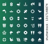 swim icon set. collection of 36 ... | Shutterstock .eps vector #1317148874