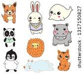 cute animal cartoon | Shutterstock .eps vector #1317150827
