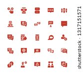 forum icon set. collection of... | Shutterstock .eps vector #1317151571