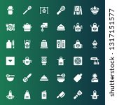 chef icon set. collection of 36 ... | Shutterstock .eps vector #1317151577