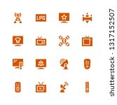 remote icon set. collection of... | Shutterstock .eps vector #1317152507