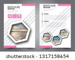 abstract flyer template.... | Shutterstock .eps vector #1317158654