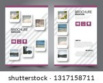 abstract flyer template.... | Shutterstock .eps vector #1317158711