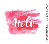 Happy Holi Background With...