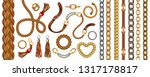 set with belts and gold and... | Shutterstock .eps vector #1317178817
