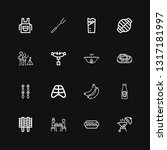 editable 16 barbecue icons for...   Shutterstock .eps vector #1317181997