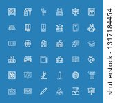 editable 36 study icons for web ... | Shutterstock .eps vector #1317184454
