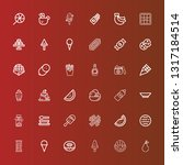 editable 36 tasty icons for web ... | Shutterstock .eps vector #1317184514