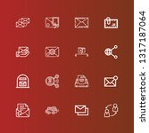 editable 16 receive icons for... | Shutterstock .eps vector #1317187064