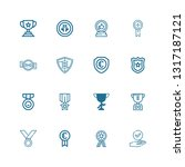 editable 16 honor icons for web ... | Shutterstock .eps vector #1317187121