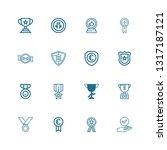 editable 16 honor icons for web ... | Shutterstock .eps vector #1317187121