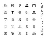 editable 25 first icons for web ... | Shutterstock .eps vector #1317193397