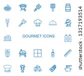 editable 22 gourmet icons for... | Shutterstock .eps vector #1317193514