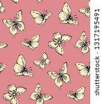 big cute wild fly hexapod bugs... | Shutterstock .eps vector #1317195491