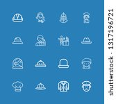 editable 16 occupation icons... | Shutterstock .eps vector #1317196721
