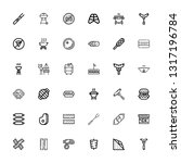 editable 36 sausage icons for... | Shutterstock .eps vector #1317196784