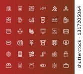 editable 36 credit icons for... | Shutterstock .eps vector #1317205064