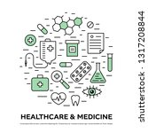 healthcare concept with thin... | Shutterstock .eps vector #1317208844