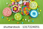 colorful lollipops and... | Shutterstock . vector #1317224051