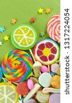 colorful lollipops and... | Shutterstock . vector #1317224054