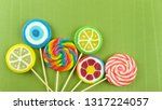 colorful lollipops and... | Shutterstock . vector #1317224057