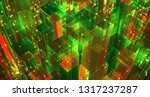 vector abstract 3d crystal. a... | Shutterstock .eps vector #1317237287