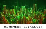 vector abstract 3d crystal. a... | Shutterstock .eps vector #1317237314